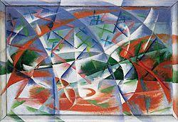 """Giacomo Balla, 1913-14, """"Abstract Speed and Sound"""""""