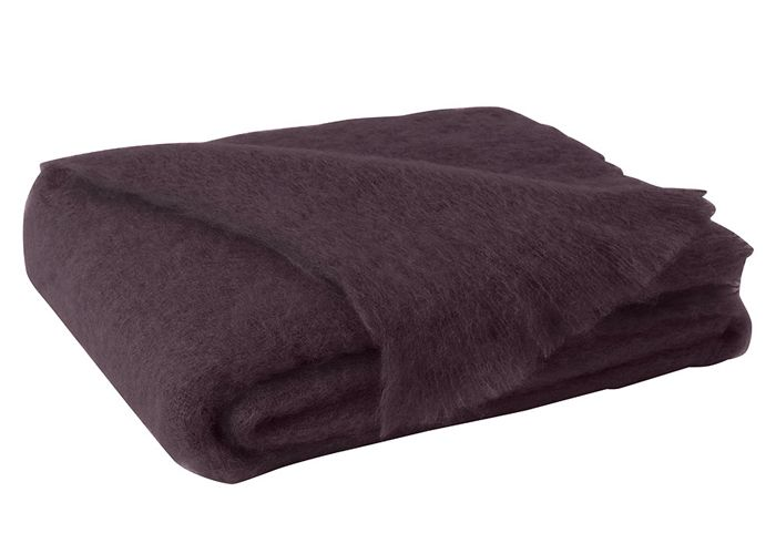 Woven in New Zealand from 100% pure fine Mohair fiber, this beautiful Brushed Mohair Throw features a luxurious high pile and soft hand. The exceptional qualities of Mohair fiber...