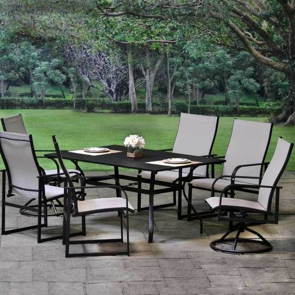 Upgrade Your Outdoor Space With Our Affordable Allure Aluminum Sling Patio Dining Set Outdoor Garden Furniture Patio Dining Patio Dining Set