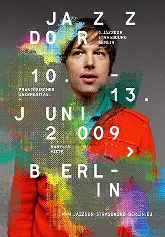 Jazzdor Strasbourg Berlin Poster, via graphic design layout, identity systems and great type lock-ups.