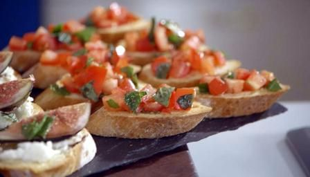 Quick canap crostini recipe simple recipes and search for Easy canape fillings
