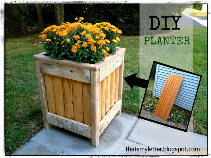 That 39 s my letter p is for planter diy planter from for How to make a planter box out of pallets