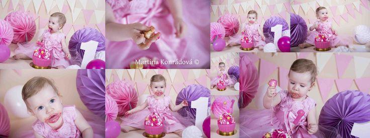 první narozeniny, holčička, dort, firstbirthday, girl, one year