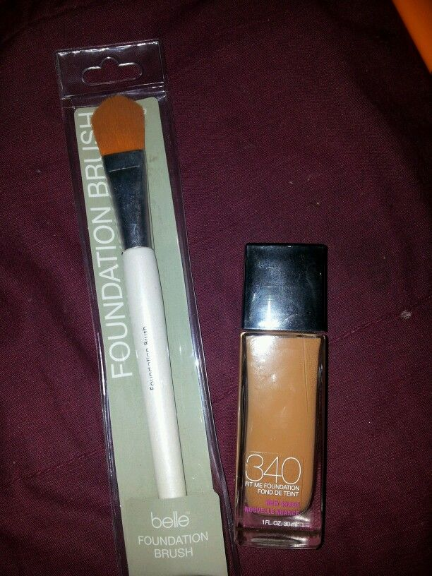 maybelline foundation fitme cappuccino brush belle