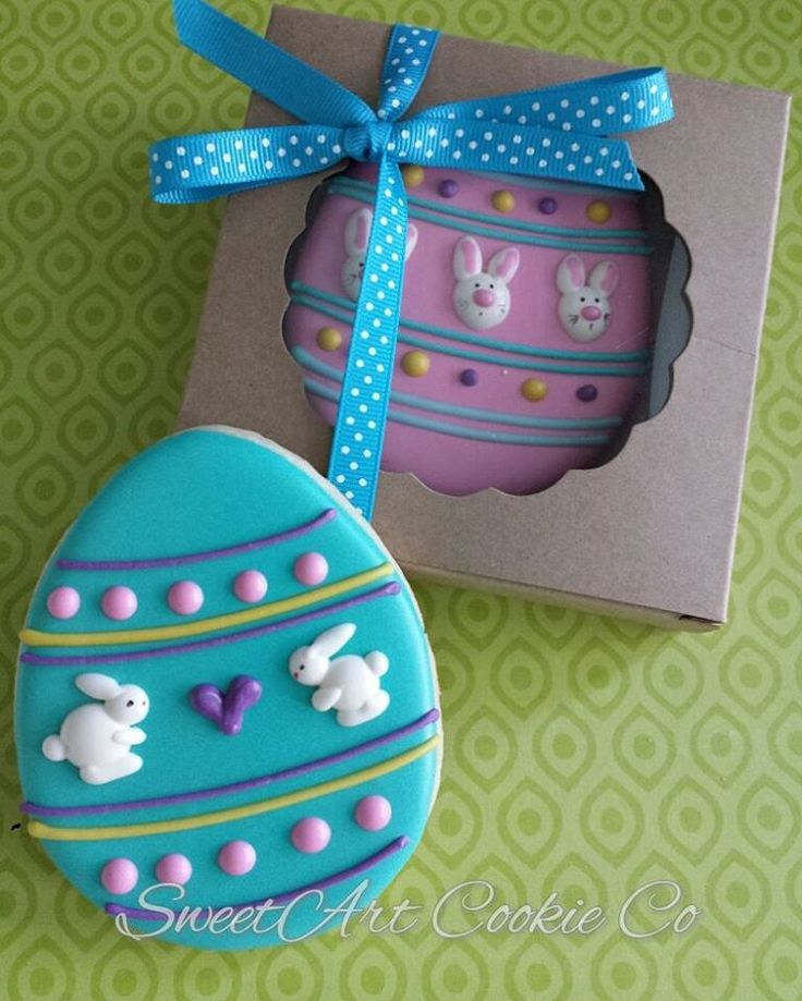98 отметок «Нравится», 9 комментариев — Heather Impson (@sweetartcookieco) в Instagram: «Easter Egg Cookie Favors Cute Box by @brpboxshop #decoratedcookies #customcookies #sugarcookies…»