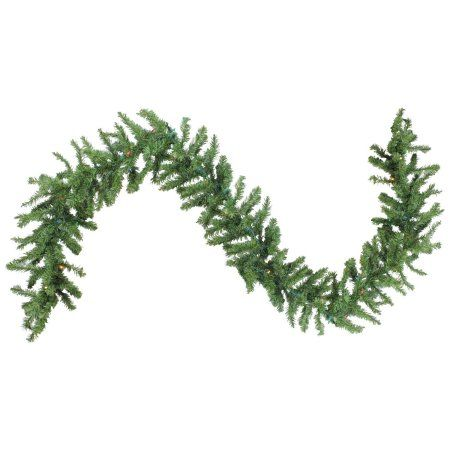 "Free Shipping. Buy 9' x 12"" Pre-Lit Green Canadian Pine Artificial Christmas Garland - Multi Lights at Walmart.com"