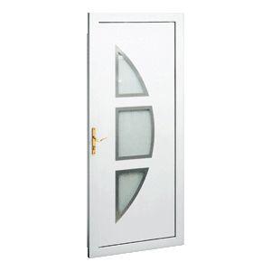"""Porte d'entrée PVC """"Lambda vitrée 3 inserts"""" Gefradis. Fabrication française sur-mesure à prix d'usine (Gefradis.fr)."""