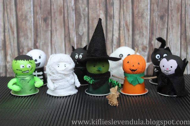 Kifli és levendula: Halloween-figurák használt kávékapszulából