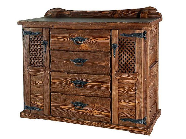 Мебель под старину из массива дерева фото