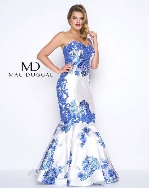 cd4c9b15f3f Новогодняя коллекция вечерних и бальных платьев для полных модниц  американского бренда Mac Duggal 2017-2018