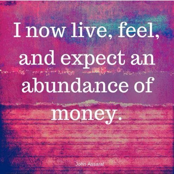 Great abundance affirmation. If you want to attract more money, fill you head with affirmations like this one. xx