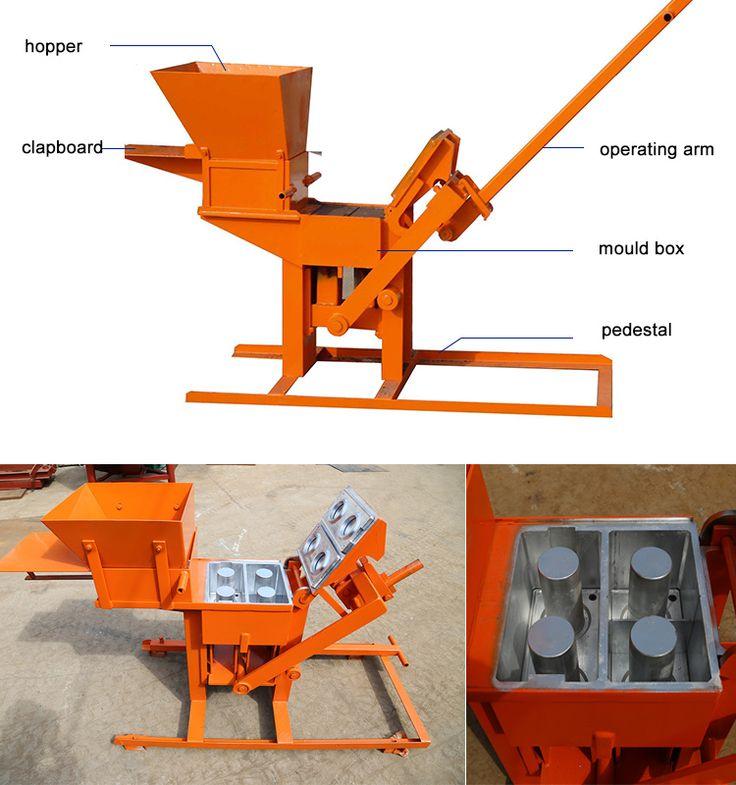 qmr2-40 manual hand operated hydraform interlocking interlock compressed earth ecological brick block making machine price