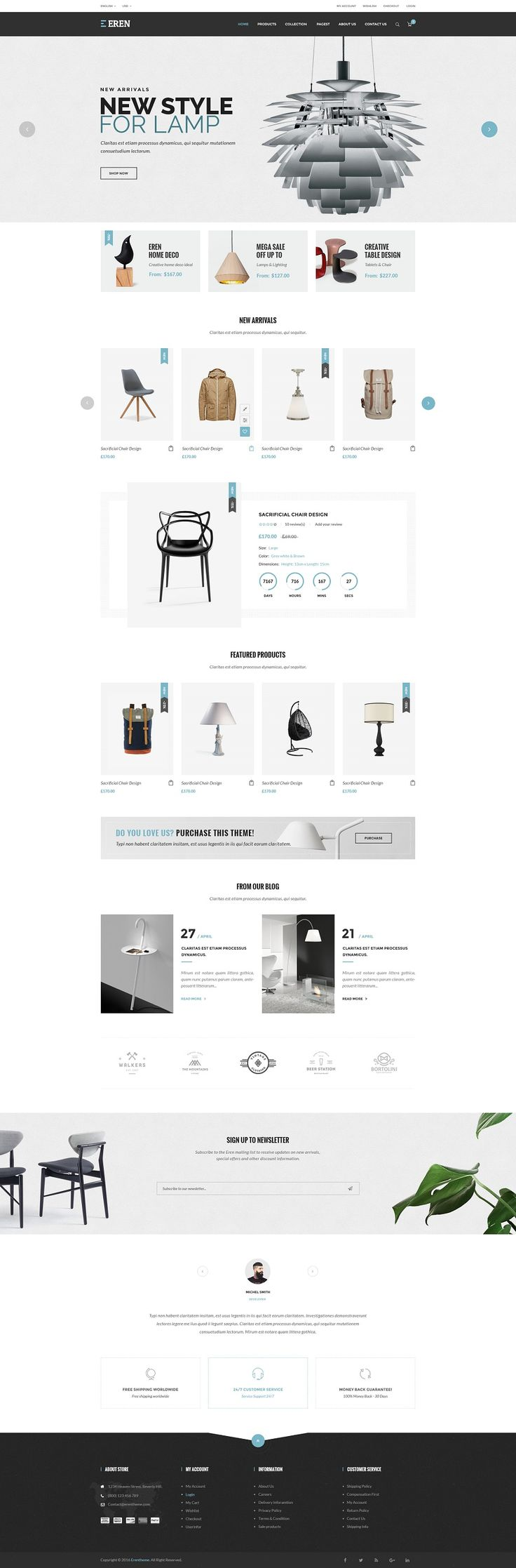 Best Ecommerce Themes #WEBDESIGN