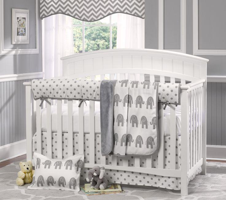 Fresh Grey Boy Crib Bedding