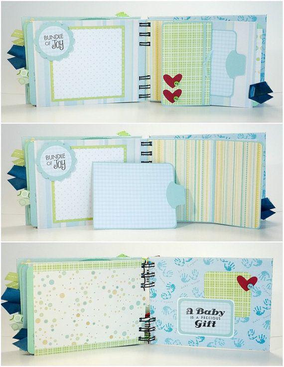 Baby Boy Scrapbook Mini Album Premade Sweet by ScrapbookGallery