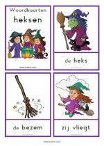 Woordkaarten Heksen  - klein + lidwoorden