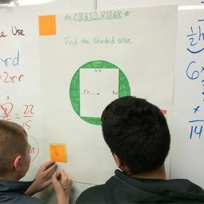 FREE Area Review Activity for upper elementary or middle school math. This engaging review activity gets students moving around and can be used with almost any subject area or topic! I used it to help review area of parallelograms, area of triangles, area of trapezoids, area of circles, and circumference in 6th grade math!
