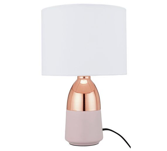 Buy Argos Home Duno Touch Table Lamp Copper Pink Table Lamps Argos Copper Table Lamp Pink Table Lamp Grey Table Lamps