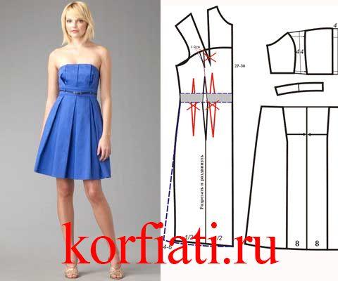 Это платье корсаж - идеально для дружеской вечеринки. Лиф со встречным складками - деталь, которая делает платье нестандартным. Расклешенная юбка платья