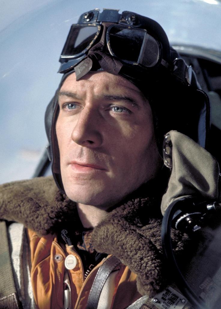 """Christopher Plummer -- The Battle of Britain. """"Probably not really a pilot, but I feel he belongs here."""" KB"""