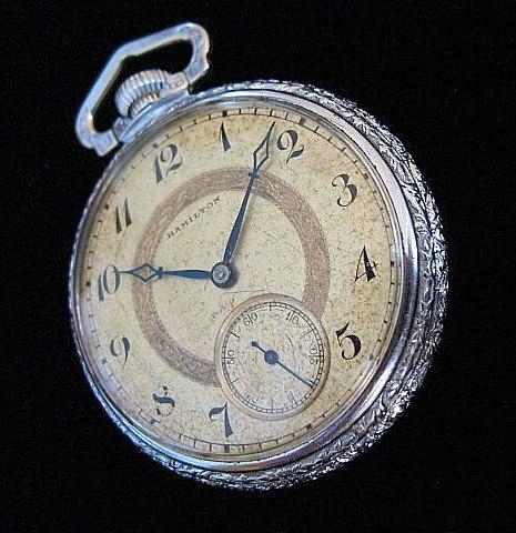 Hamilton Pocket Watch  c1920 by wierclock on Etsy