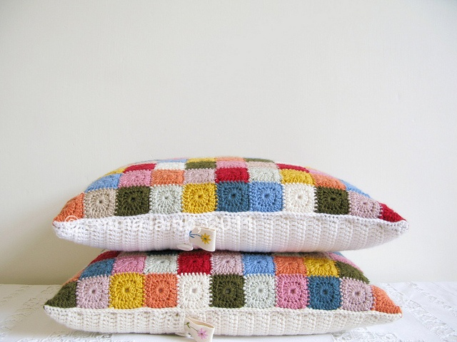 selma and velma crochet cushions by emma lamb