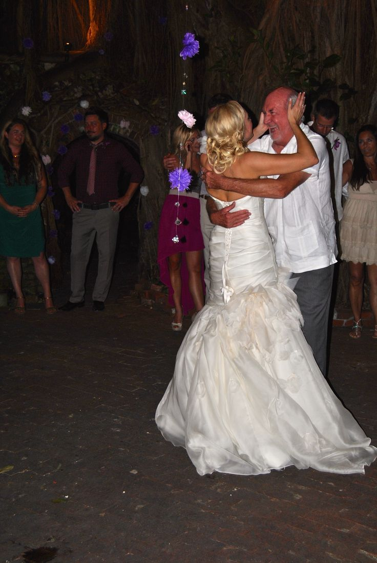 Father And Bride Share A Special Dance Key West Martello Tower Botanical Gardens Wedding