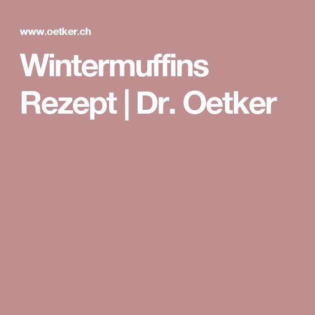 Wintermuffins Rezept | Dr. Oetker