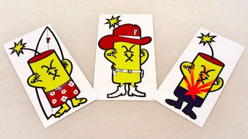 Awesome stickers for Firecracker Softball - http://firecrackersoftball.com/!
