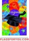 Congrats Balloons Garden Flag