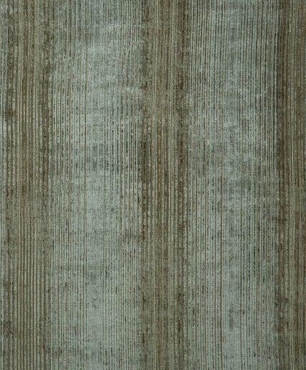 Neisha Crosland Strata Stripe fabric in Silver Birch