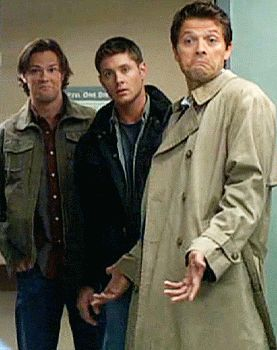 Jensen looks like a deer caught in the headlights, and the other two...LOL