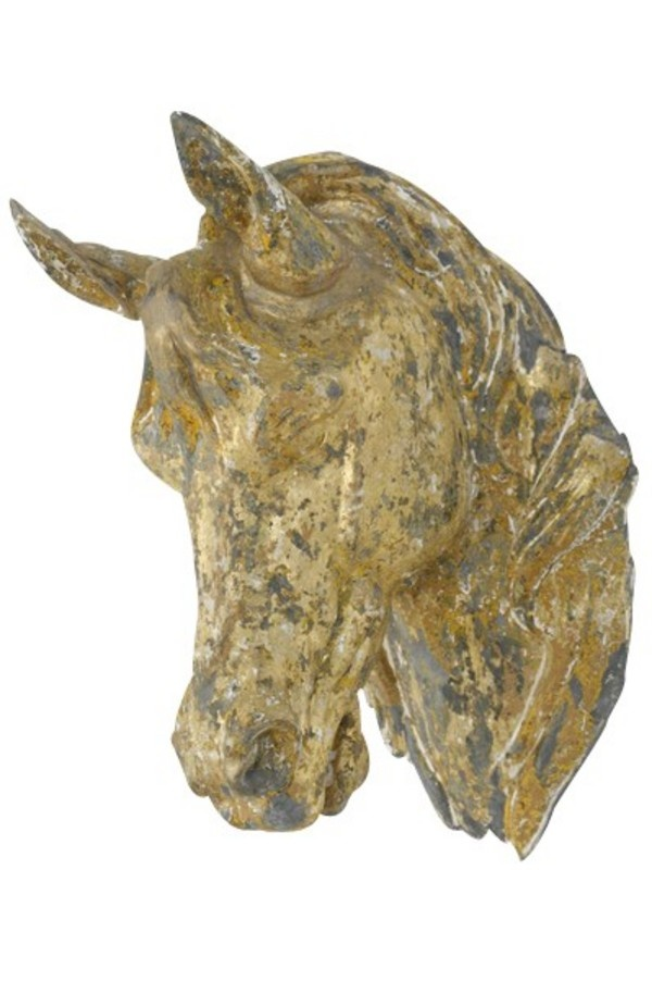 Equestrain...Antique zinc horse head