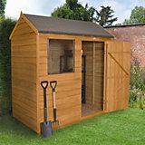 6X4 Reverse Apex Overlap Wooden Shed with Assembly Service Base Included | Departments | DIY at B&Q