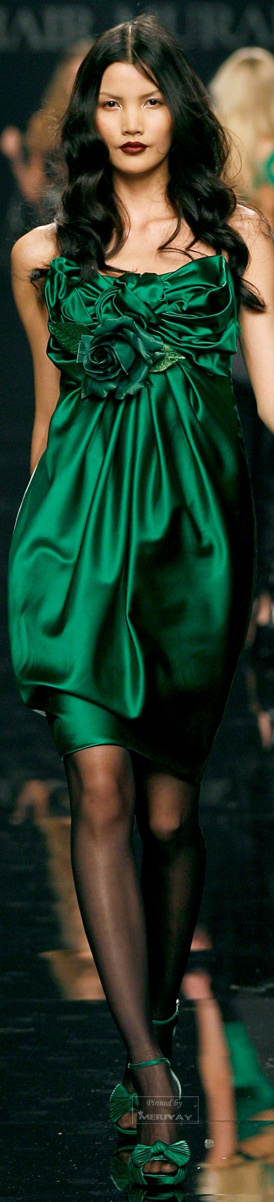 green wedding | green bridesmaids dresss | Zuhair Murad | The House of Beccaria#