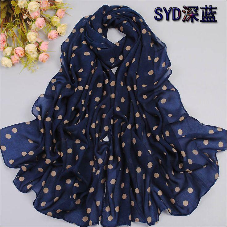En najaar fluwelen chiffon sjaal sunsreen cape strandlaken stip zijden sjaal