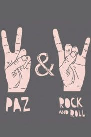 Estampa Infantil Paz e Rock