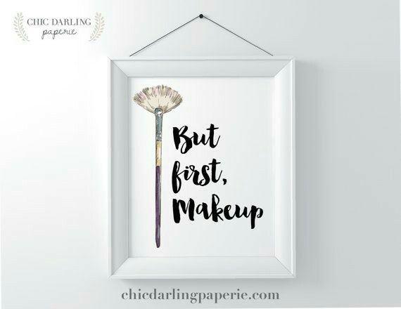 But first, makeup
