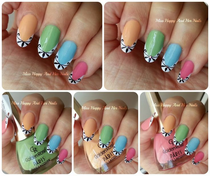 1162 best frenchhalf moonruffian nail art images on pinterest o primvar n nuane pastelate de la golden rose prinsesfo Images