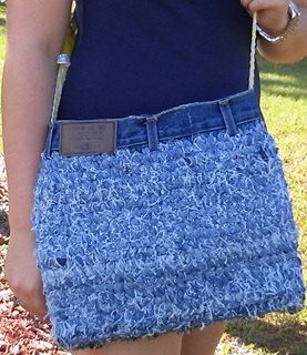 I am so proud of this blue jean purse design - it screams fashion and will turn heads. it is so versatile and can be paired with any outfit and