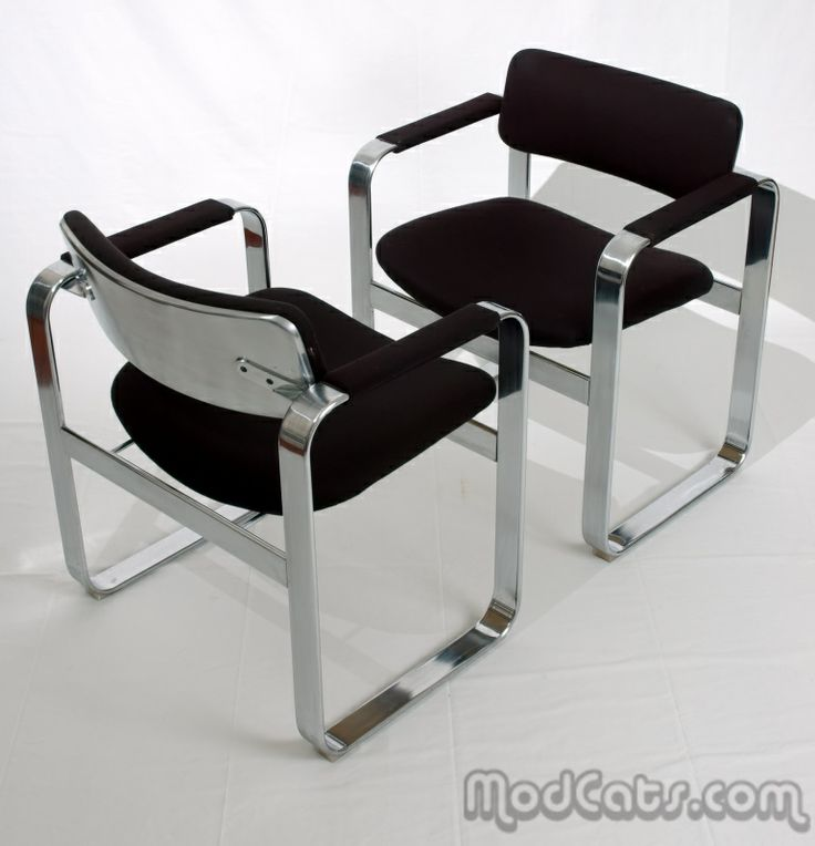 Amazing Eero Aarnio Chromed Steel Armchairs for Mobel Italia c