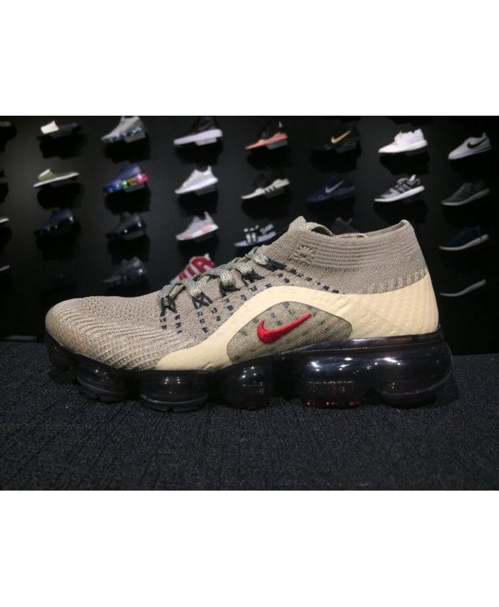 bcde605d956 Genuine Nike Air VaporMax Flyknit WoRunning Shoe Grey White Hot sale Mens  Shoes Online