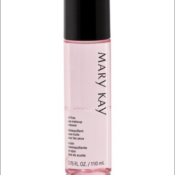 Mary Kay Oil free eye make up remover Gently removes eye make up, including waterproof Mascara without tugging or pulling the delicate skin in the eye area . Formula does not leave skin grease. Mary Kay Other