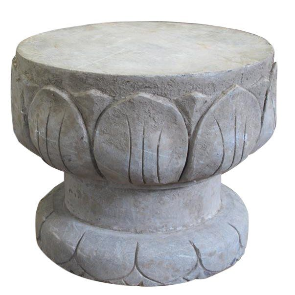 Pleasant Chinese Lotus Leave Stone Garden Stool Products In 2019 Alphanode Cool Chair Designs And Ideas Alphanodeonline
