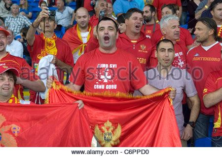 Welsh Football Fans At Match Cardiff South Wales Stock Photo ...