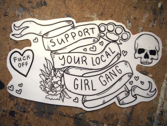Support Your Local Girl Gang Stickers by KeightMacLeanArt on Etsy