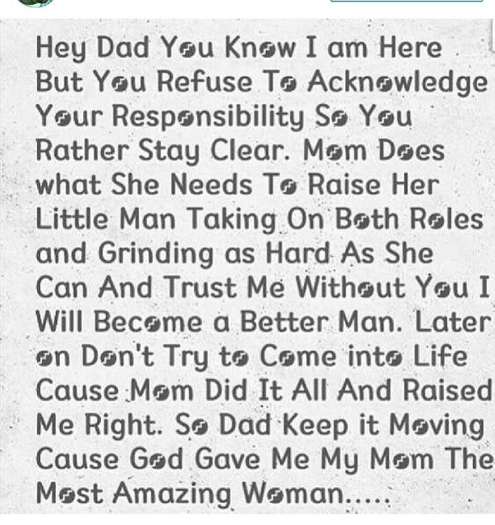 To all the deadbeat dads. Shame on you for being so selfish and walking away from such a blessing!!