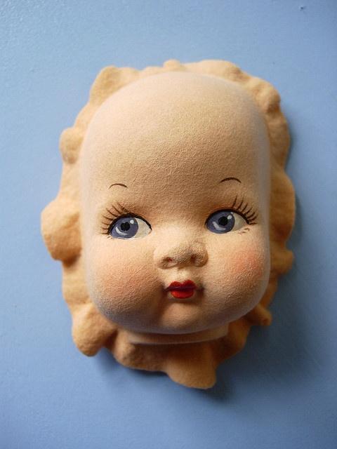 felt doll face by maximum RABBIT designs, via Flickr