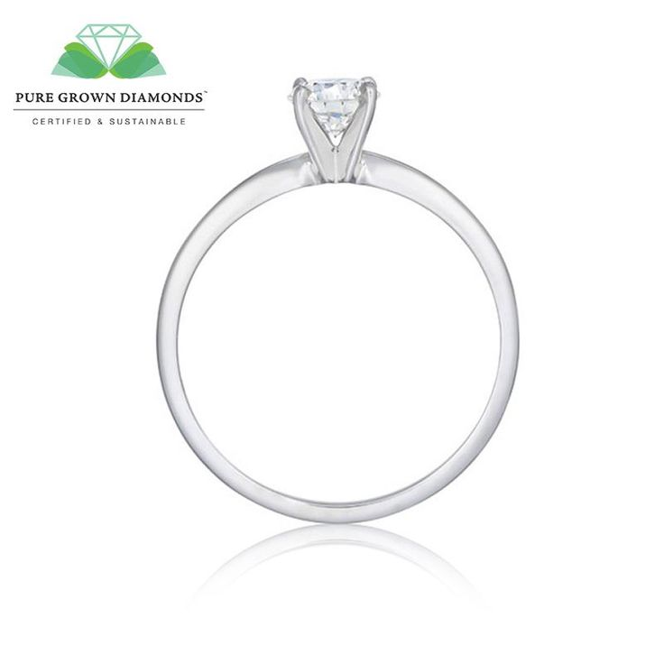 Diamond Solitaire Engagement Ring In White Gold