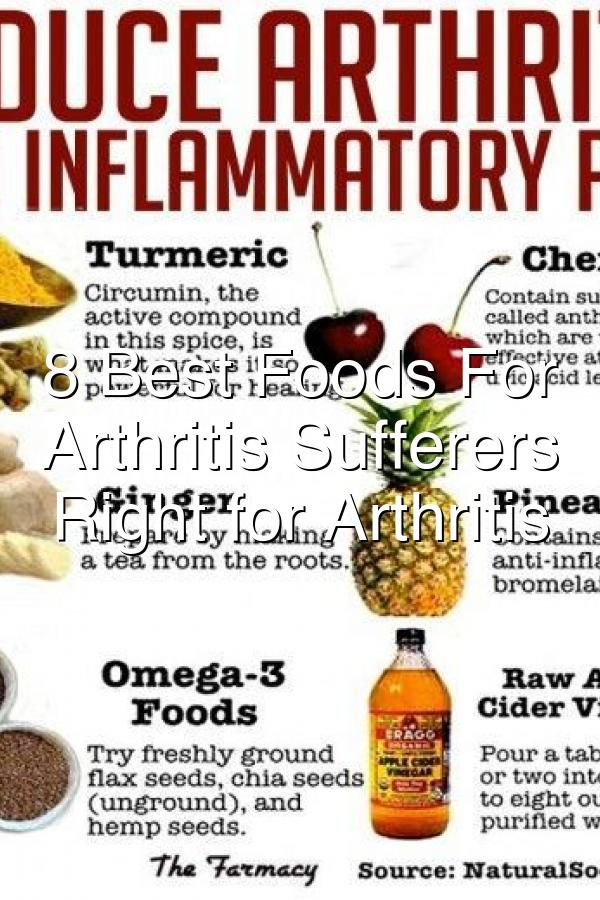 8 Best Foods For Rheumatoid Arthritis Sufferers Eating Right For Arthritis In 2020 Eat Right Best Foods Food